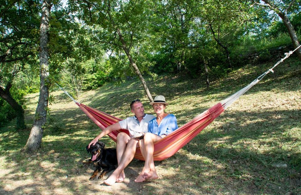 Camping Le Luberon : Hamacs