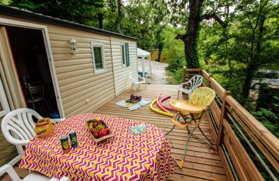 Camping Le Luberon : Terrasse Site